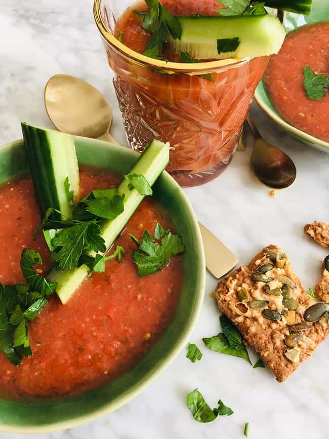 Gazpacho spaanse zomersoep recept