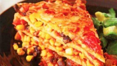 Lasagne van Mexicaanse wraps