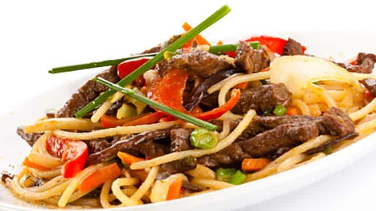 Pittige chinese groenten met biefreepjes