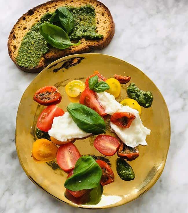 Salade caprese simpel recept