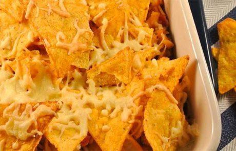 Ovenschotel met tortillachips en andijvie
