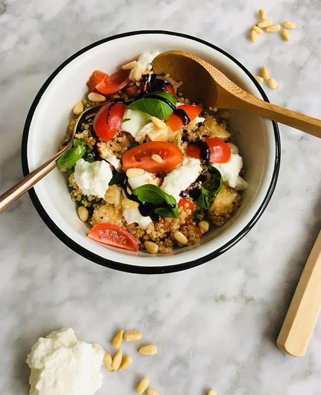 Quinoa salade caprese simpel recept