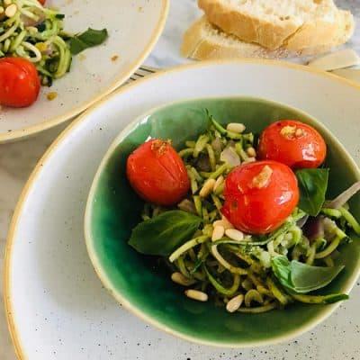 Courgette pesto pasta makkelijk recept