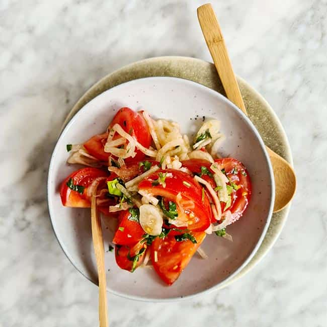 Enselada Chilena tomatensalade simpel recept
