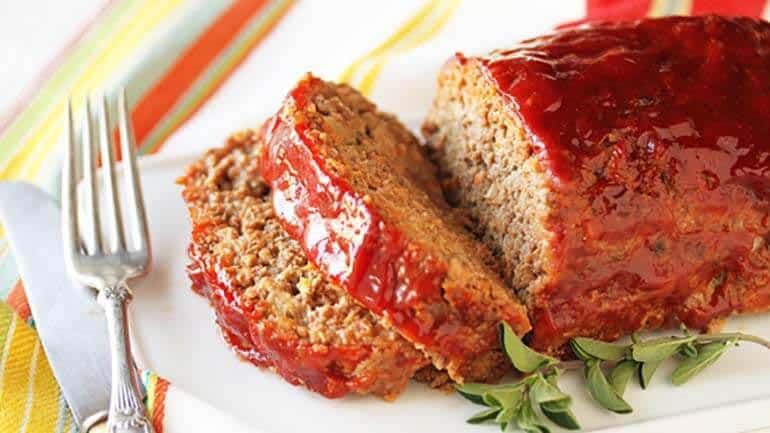 Gehaktbrood met paprika