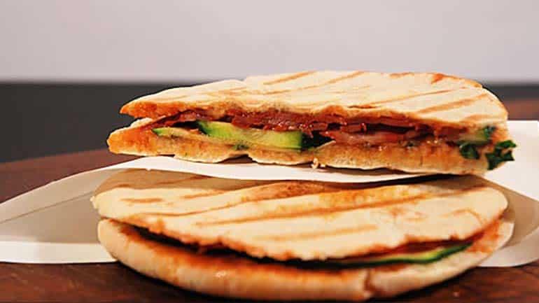 Krokante pita met chorizo