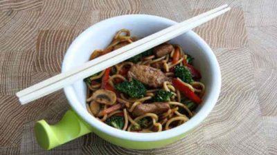Varkensreepjes met Thaise groente