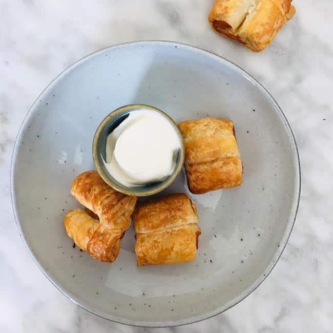 Zalm koekjes van bladerdeeg recept