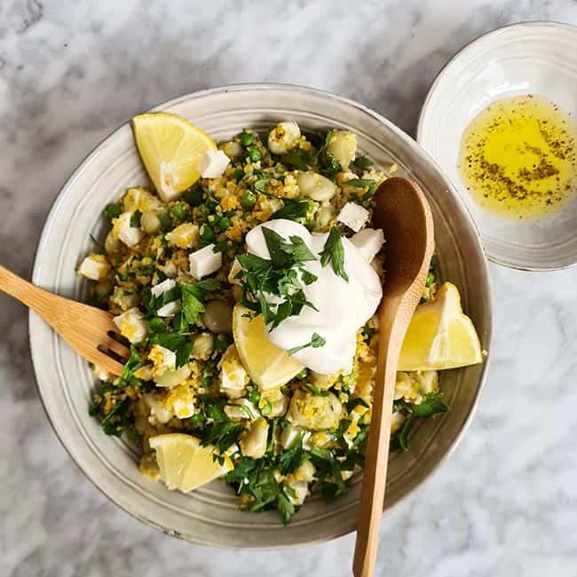 Couscoussalade met tuinbonen simpel recept