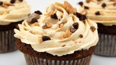 Espresso-amandel cupcakes