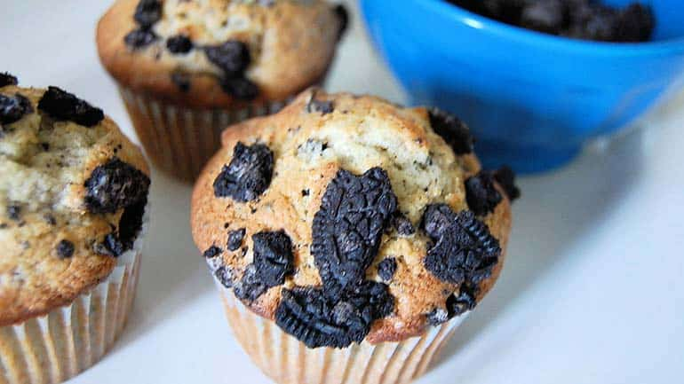 Oreo muffins met Oreo koekjes