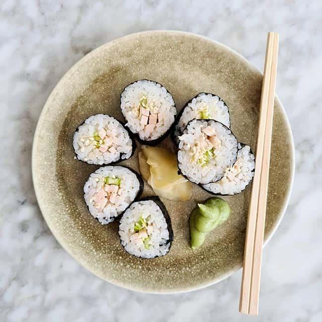 Sushi gerookte kip recept