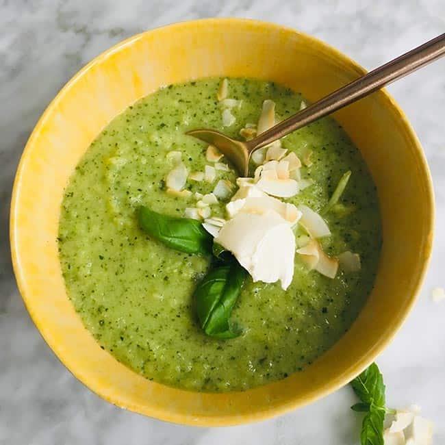 Courgettesoep met basilicum recept