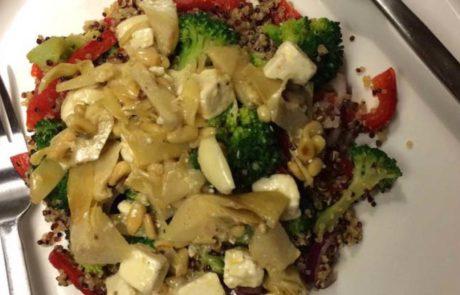 Quinoasalade met broccoli en feta