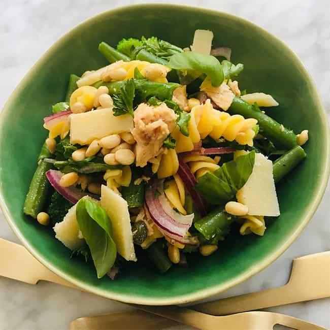 Pastasalade met tonijn simpel recept