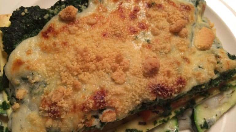 Lasagne met gorgonzolasaus