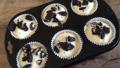 Mini Oreo-cheesecakes