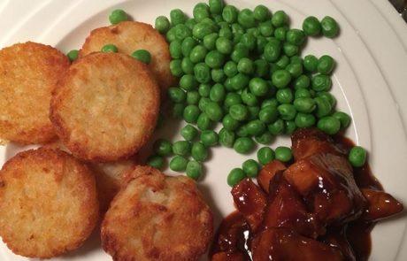 Gemarineerde kip met rosti rondjes