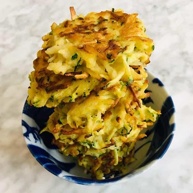 Aardappel courgettekoekjes maken