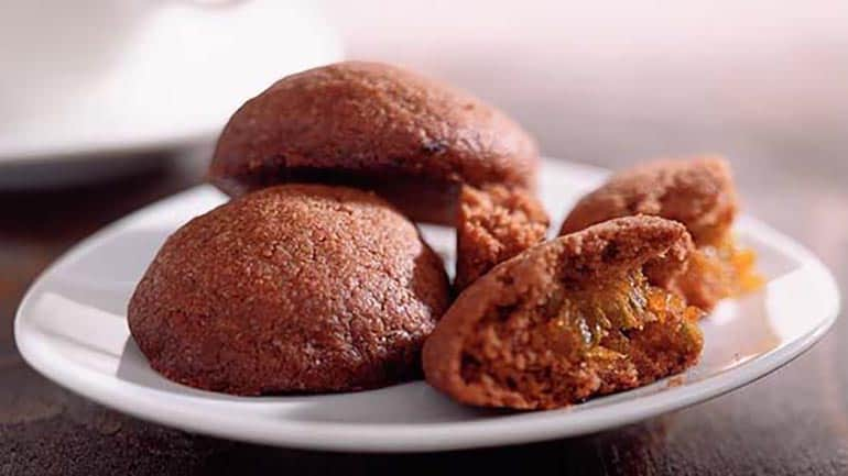 Gevulde pepernoten met abrikozen