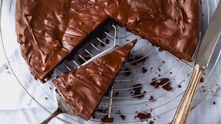 Simpele chocoladetaart