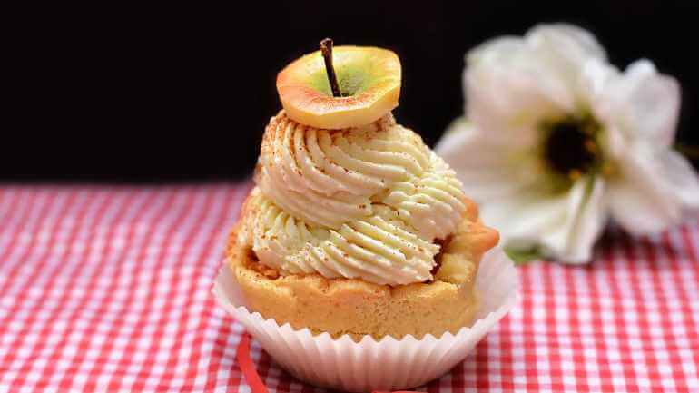 Apfelstrudel cupcakes