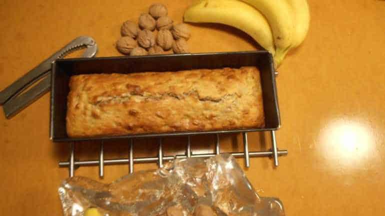 Banaan-walnotenbrood