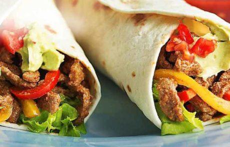 Burrito met paprikarijst