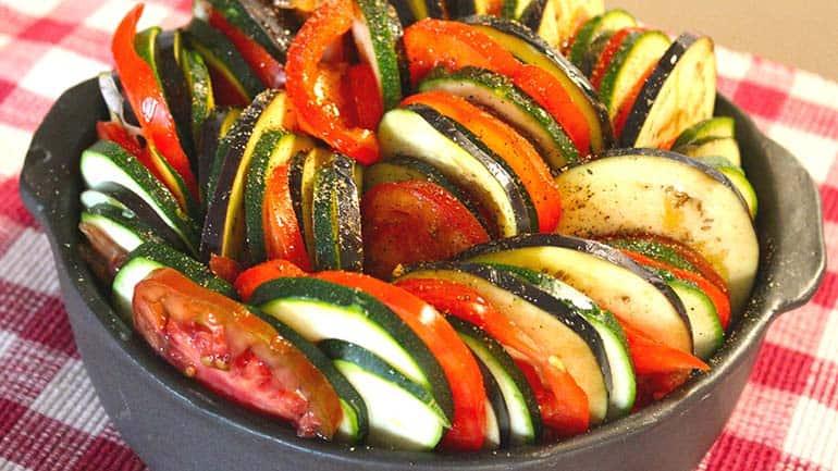 Geroosterde groenten met rozemarijn