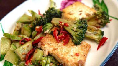Groentesalade met tofu