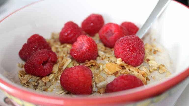 Havermout met yoghurt en fruit