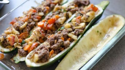 Courgette bootjes