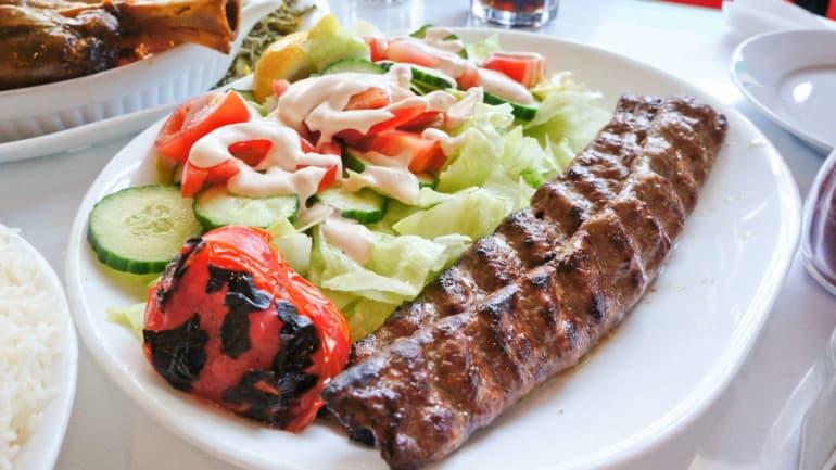 Chelow kebab met saffraan