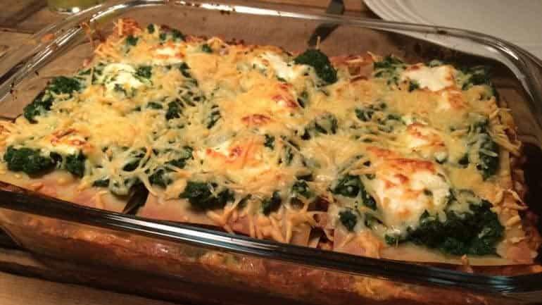 Lasagne met spinazie en mascarpone