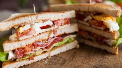 Club sandwich brunch