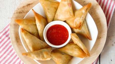 Driehoekjes met paprika en witte kaas simpel recept