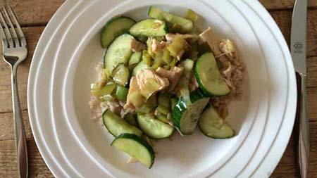 Kip rijst en komkommer in oestersaus simpel recept
