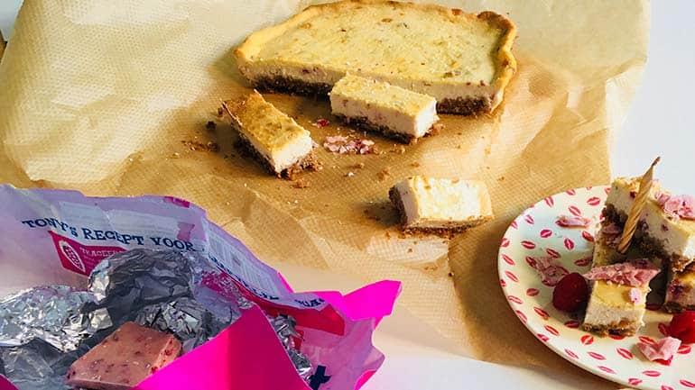 Cheesecake met witte chocolade recept