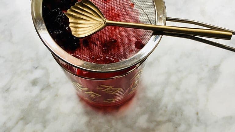 Coulis van rood fruit