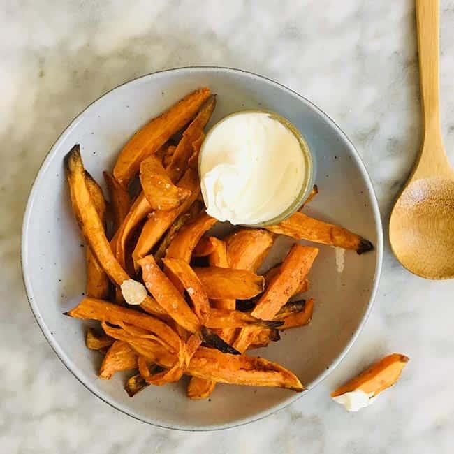 Zoete aardappel friet simpel recept