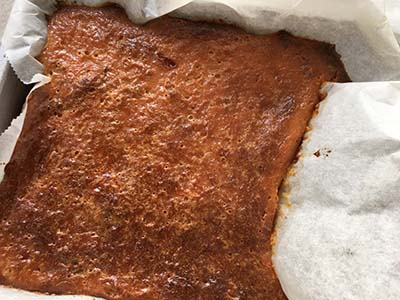 Pompoentaart net uit de oven