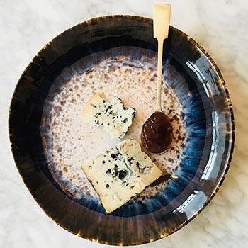 Spaanse Cabrales blauwader kaas