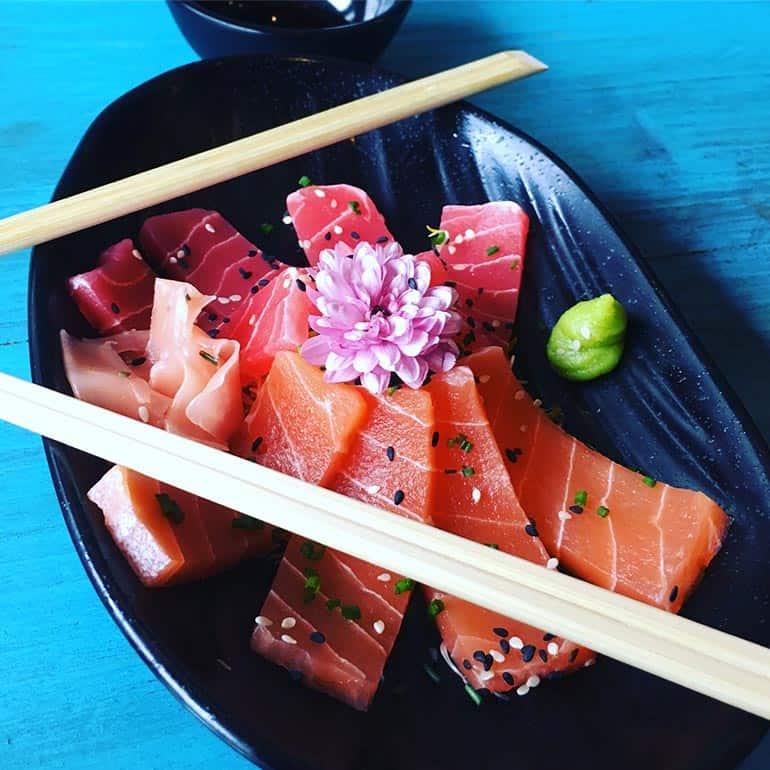 Vegan sashimi op de kaart