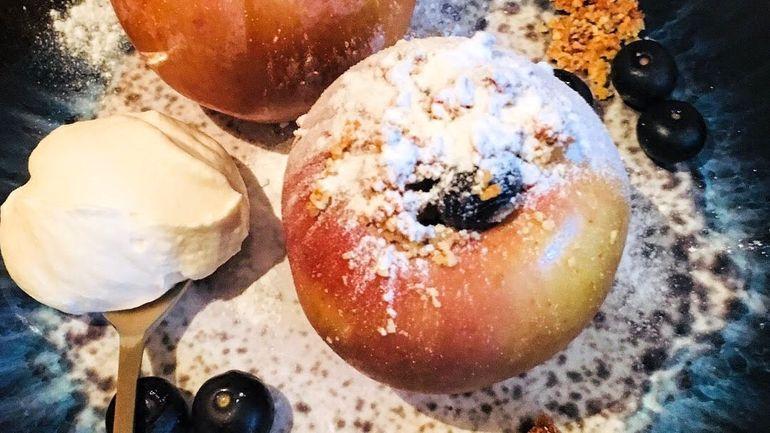 Gevulde appel uit de oven