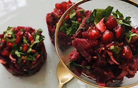 Rode bieten tartaar met balsamico
