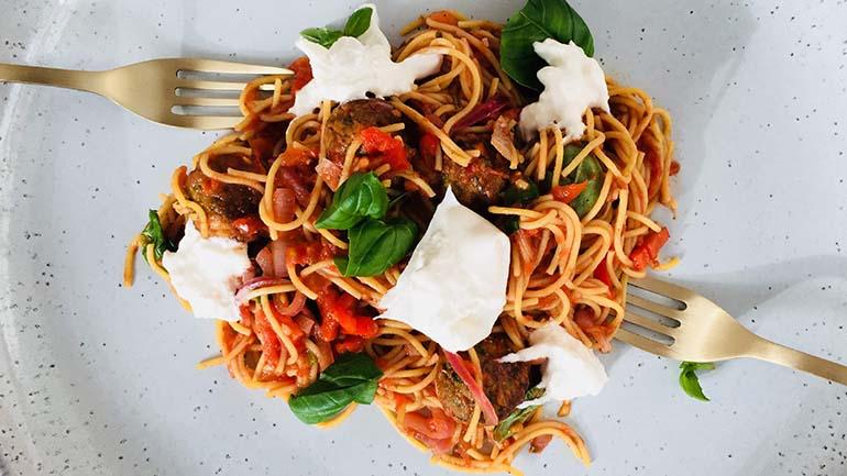 Spaghetti lady en de vagebond
