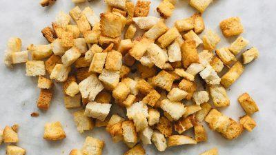 Croutons maken in de oven