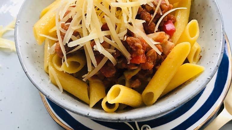 Pasta met tomatensaus recept