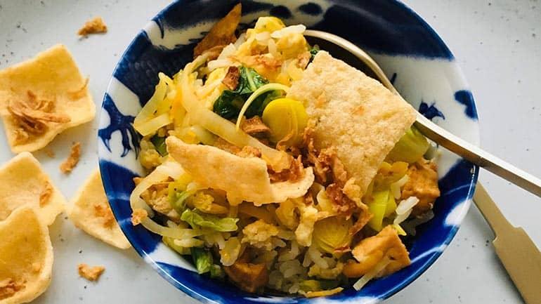 Vegetarische nasi recept