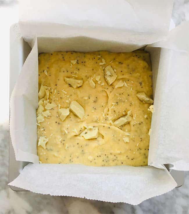Citroen maanzaad cake voorbereiding